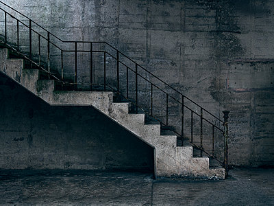 Old concrete staircase - p1280m2100904 by Dave Wall