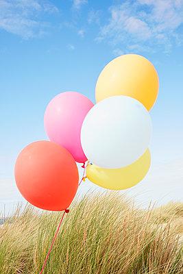 bunte Luftballons - p464m1123936 von Elektrons 08