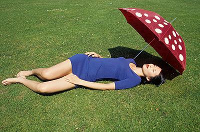 Fliegenpilz Regenschirm - p0452167 von Jasmin Sander