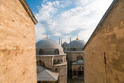 Blick auf die Sultan Mausoleums und die Blaue Moschee - p1332m1502674 von Tamboly