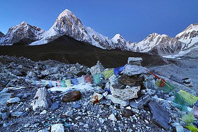 Nepal mountain landscape at sunset - p316m664205 by Yevgen Timashov