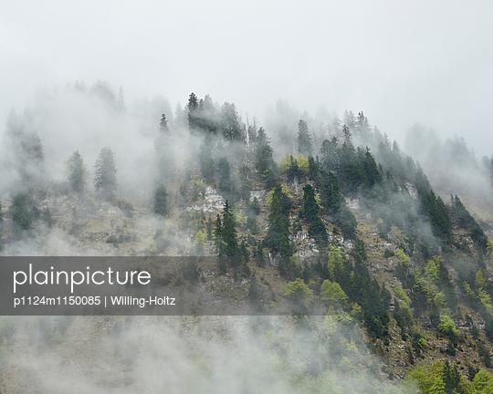 Wolken und Berge am Lac de Montriond - p1124m1150085 von Willing-Holtz