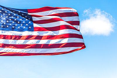 USA, Seattle, US-american flag - p300m2042829 von Michael Malorny