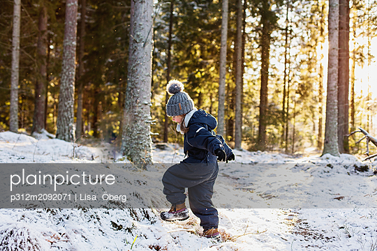 Girl at winter - p312m2092071 by Lisa  Öberg