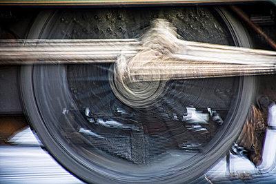 Train wheel - p4426427f by Design Pics
