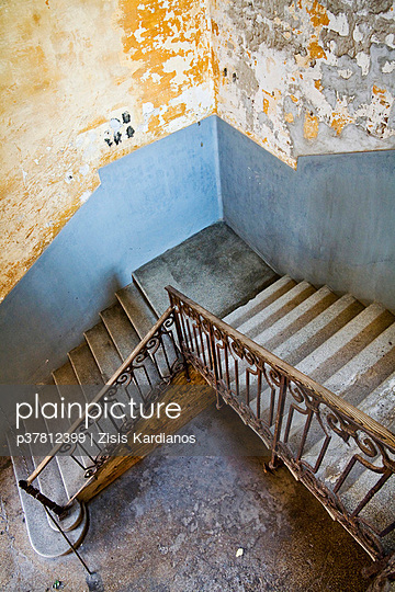 Staircase in old mansion - p37812399 by Zisis Kardianos