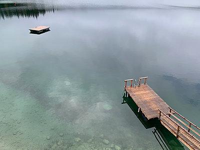 Lonesome swimming lake - p454m2280149 by Lubitz + Dorner