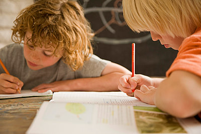Boys in the classroom - p6690937 by Jutta Klee photography