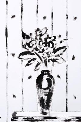 Gemalter Blumenstrauß - p237m1108735 von Thordis Rüggeberg