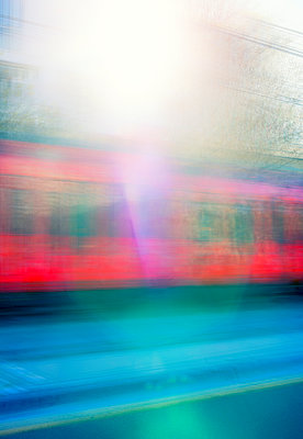 Train passing  - p1436m1588852 by Joseph S. Giacalone