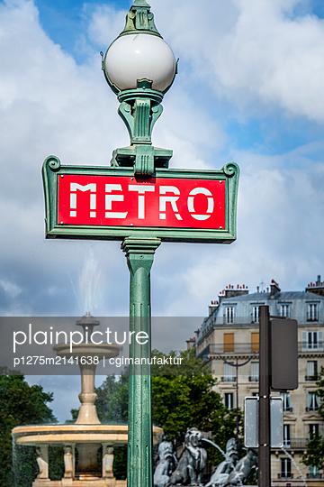 Metro Paris - p1275m2141638 von cgimanufaktur
