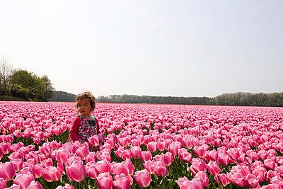 Girl in tulip field - p1231m1043145 by Iris Loonen
