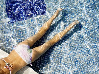 Clara in outdoor pool - p3488472 by Soren Svendsen