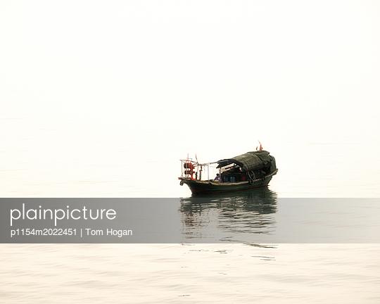 Fishing Boat - p1154m2022451 by Tom Hogan