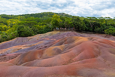 Mauritius, Chamarel, Seven Coloured Earths - p300m1550273 by Fotofeeling