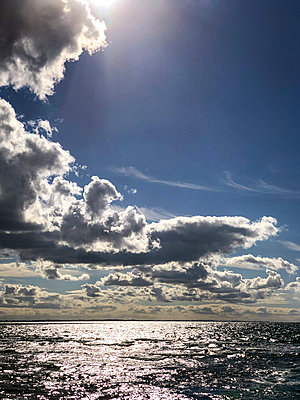 Sun and clouds over the Baltic Sea - p382m2283982 by Anna Matzen