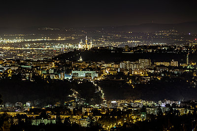 Night shot of Lyon - p910m2127872 by Philippe Lesprit