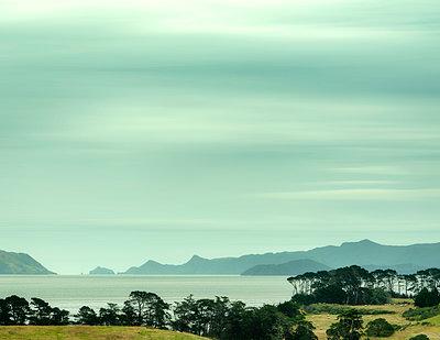 Hauraki Gulf in New Zealand - p1154m1425743 by Tom Hogan