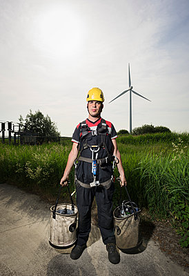 wind turbine maintenance - p1132m1439989 by Mischa Keijser
