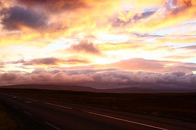 Iceland, Sunset - p1643m2229387 by janice mersiovsky