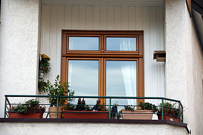 balcony with window boxes - p3880691 by L.B.Jeffries