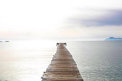 Wooden Pier - p1082m1589789 by Daniel Allan
