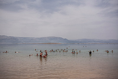 Bathing in the Dead Sea - p741m929358 by Christof Mattes