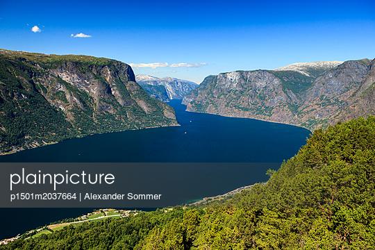 Aurlandsfjord, Norwegen. - p1501m2037664 von Alexander Sommer