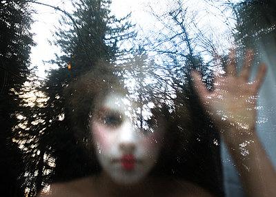 Clown Faced Boy - p1503m2020432 by Deb Schwedhelm