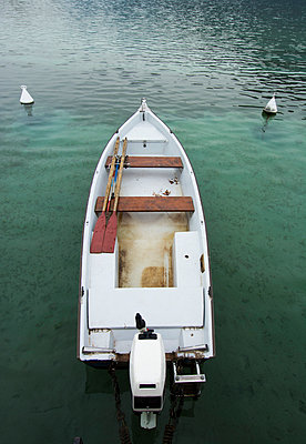 Small boat on the Lake d'Annecy - p813m1119123 by B.Jaubert