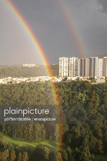 Rainbow in Mexico City - p375m1563894 by whatapicture
