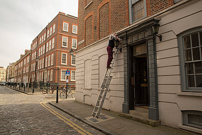 On the ladder - p1291m1116163 by Marcus Bastel