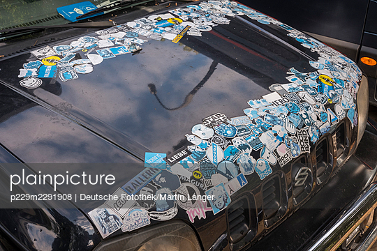 Car with stickers - p229m2291908 by Martin Langer