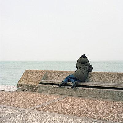Waschbeton-Promenade - p1083m833487 von Alain Greloud