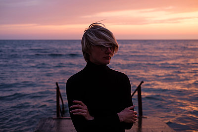 Woman near sea - p1363m2108776 by Valery Skurydin