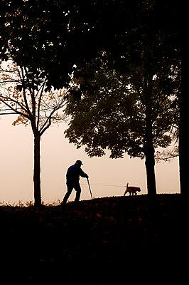 Spaziergang im Herbst - p470m1502265 von Ingrid Michel