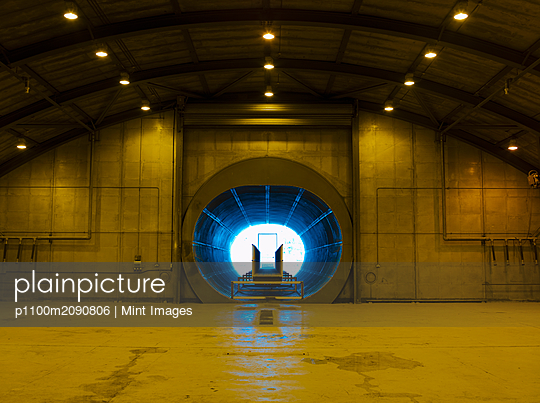 Jet Engine Testing Tunnel - p1100m2090806 by Mint Images