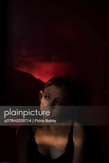 Portrait of young girl - p378m2235714 by Fiona Bailey