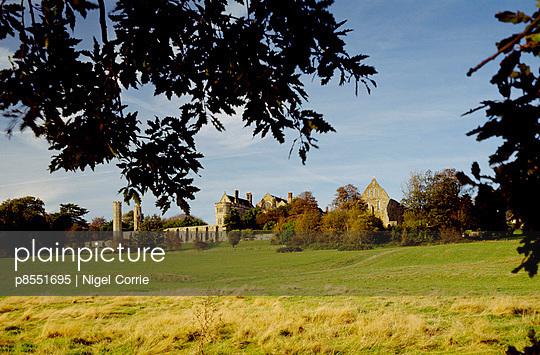 Battle of Hastings. View looking across the battlefield towards the abbey.. - p8551695 by Nigel Corrie