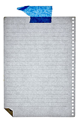 Lined sheet with adhesive tape - p265m1030965 by Oote Boe