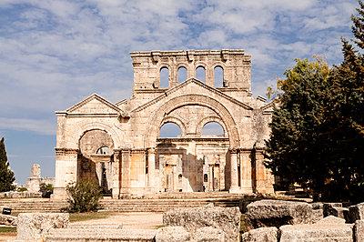 Frühbyzantinisches Kloster des Simeon, Simeonskloster, Aleppo, Syrien - p1493m2063608 von Alexander Mertsch