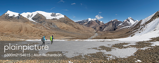 Hidden Valley, Sechi Lek, Dhampus Peak, Dhaulagiri Circuit Trek, Himalaya, Nepal - p300m2154615 by Alun Richardson