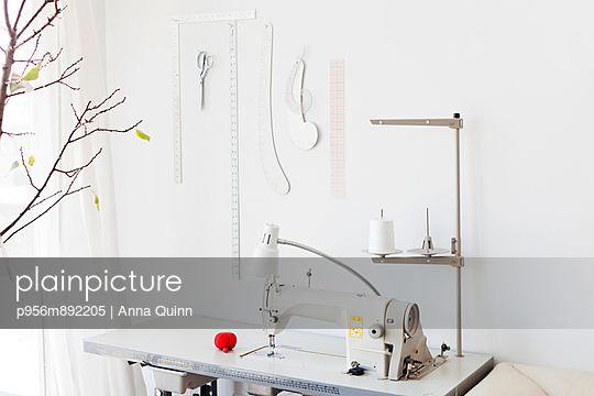 Sewing machine  - p956m892205 by Anna Quinn