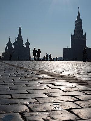 Moskau, Roter Platz in Moskau  - p390m2109332 von Frank Herfort