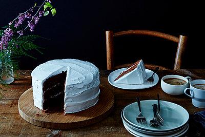 Torte mit dickem Zuckerguss - p1379m1467763 von James Ransom