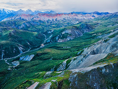 The mountains of Kluane National Park and Reserve seen from an aerial perspective; Haines Junction, Yukon, Canada - p442m2039401 by Robert Postma