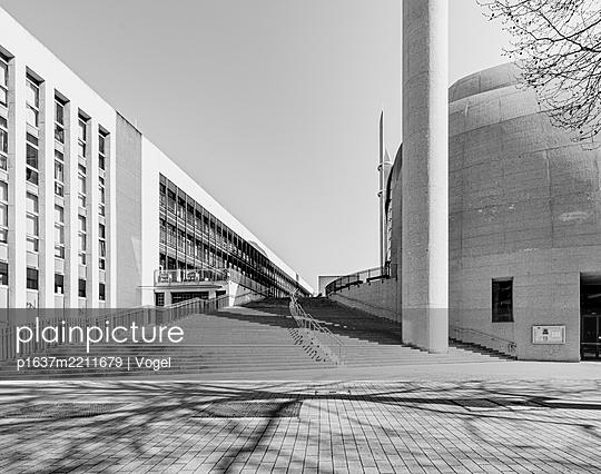 Steps alongside office buildings, Cologne - p1637m2211679 by Vogel