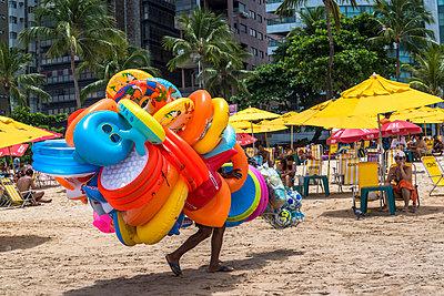 Beach vendor  - p1170m1137541 by Bjanka Kadic