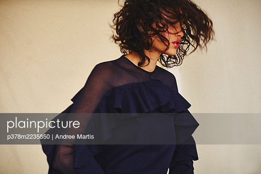 Portrait of young woman - p378m2235850 by Andree Martis