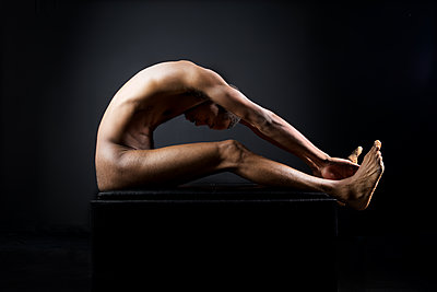 Naked african man - p1554m2223497 by Tina Gutierrez
